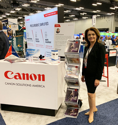 Lourdes Coss at the Canon Solutions America booth