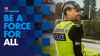 Police Now's DC Upile Mtitimila features across England and Wales in a series of outdoor and digital advertising campaigns for the Home Office campaign to recruit 20,000 new police officers.  Police Now works is responsible for recruiting outstanding graduates to become the next generation of leaders in policing.
