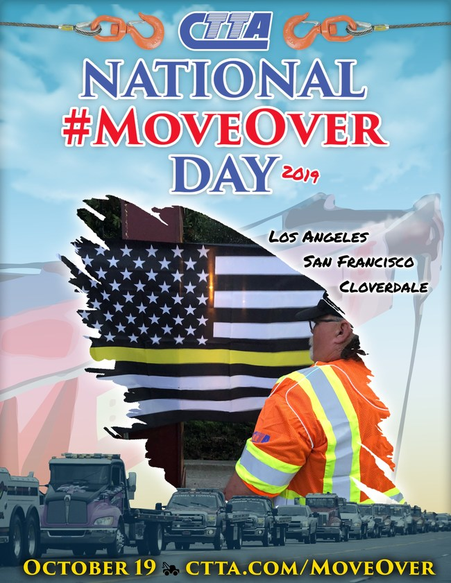 Tow operators, emergency responders, and others will be gathering in three California cities on October 19th with a tow truck procession and event.