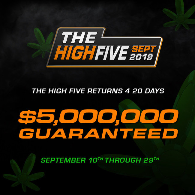 5 Events per Day for 20 Days with a $420K GTD Main Event every Sunday