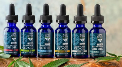 CBD oil generic (Credit: New River Botanicals) (PRNewsfoto/The Southern Hemp Marketplace L)
