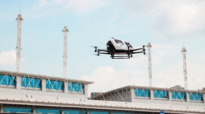 EHang AAV's first passenger flight in Changchun, China