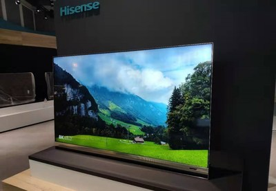 Televisores 8K ULED XD y Sonic Laser de Hisense brillan en exposición IFA 2019 (PRNewsfoto/Hisense Group)