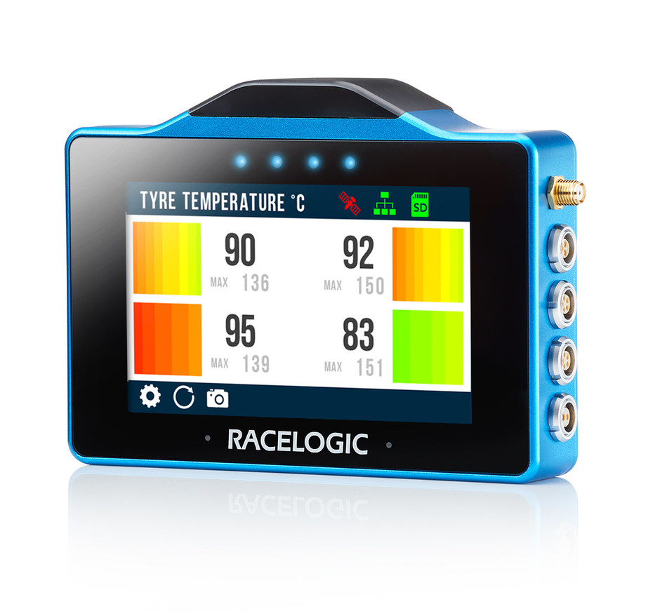 Racelogic will be releasing several additional apps that can be downloaded free of charge, such as tyre temperature monitoring.