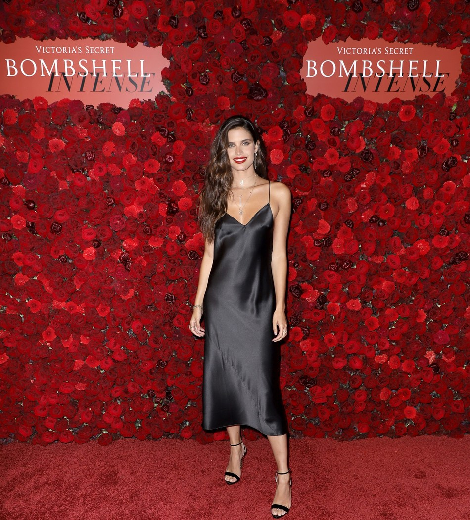 Victoria's Secret Angel Sara Sampaio Hosts the Bombshell Intense Launch Party on September 5, 2019 in New York City