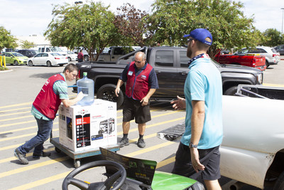 Lowe's associates at stores along the East Coast helped customers prepare for Hurricane Dorian with essential supplies.