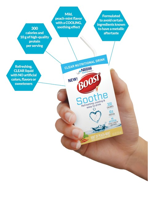 New BOOST® Soothe Nutritional Drink Provides Nutritional Support for Patients Who Experience Certain Side Effects of Cancer Treatment