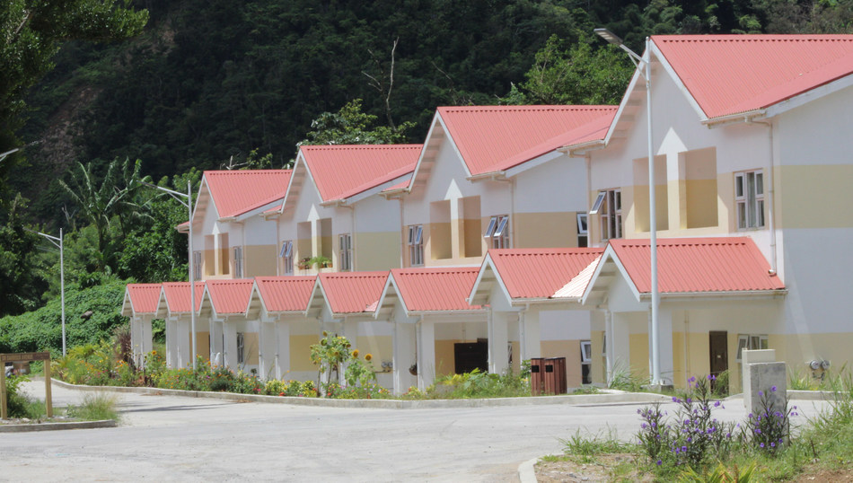 Bellevue Chopin housing project, part of Dominica's Housing Revolution which aims to build over 5,000 hurricane-resistant homes for displaced communities post Erika and Maria, fully sponsored by the island's Citizenship by Investment Programme