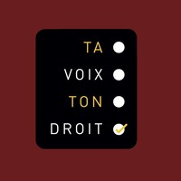 Logo de la campagne Ta voix, ton droit! (Groupe CNW/Fédération étudiante collégiale du Québec (FECQ))