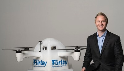The Flirtey Eagle with Flirtey's Founder and CEO, Matthew Sweeny