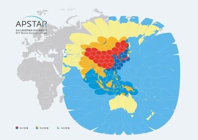 APSTAR 6D Coverage Footprint