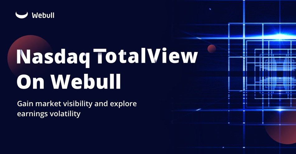 Webull provides access to premier real-time market data with Nasdaq TotalView.