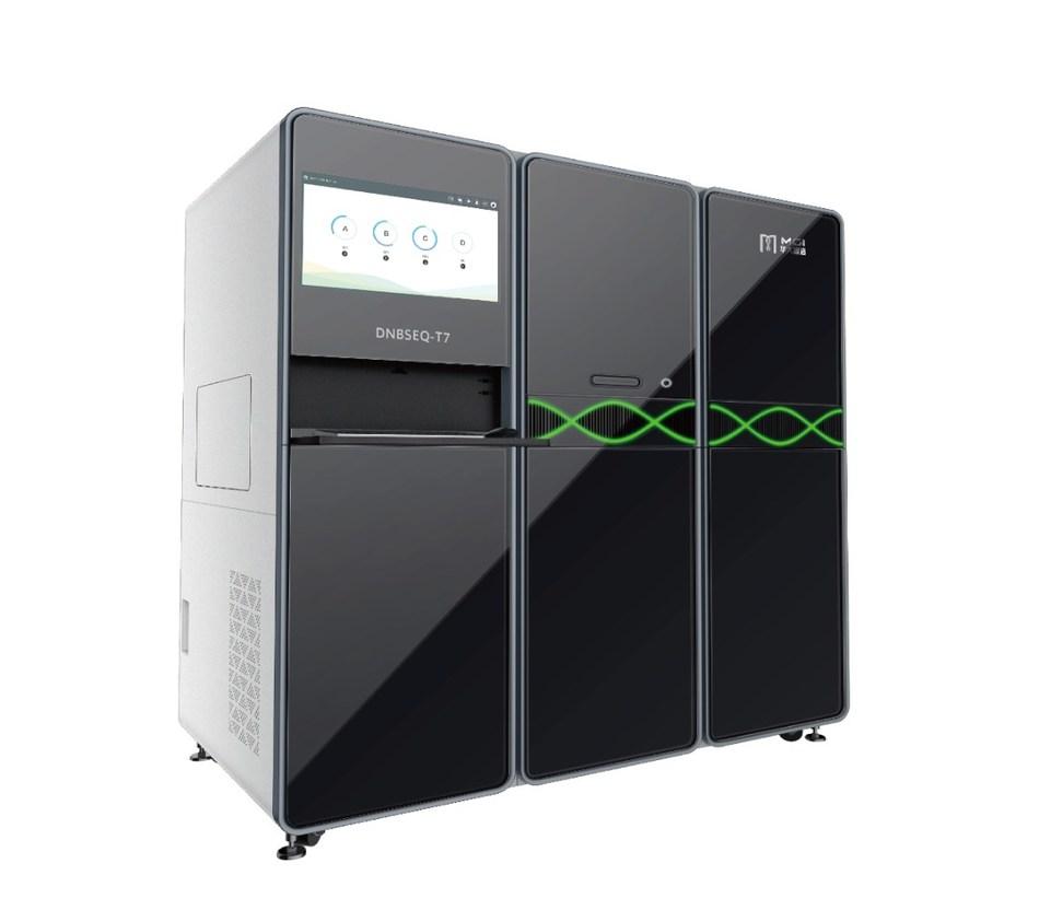 The DNBSEQ-T7 ultra high-throughput sequencer from MGI