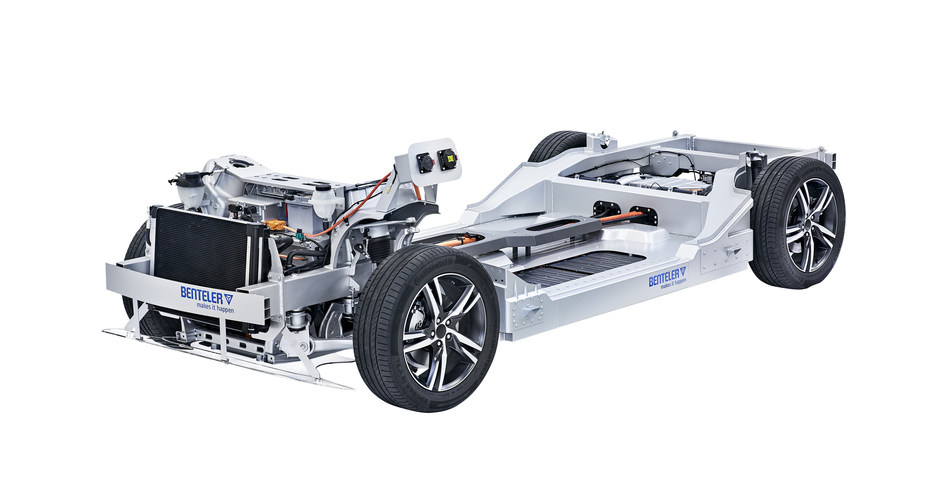 The BENTELER Electric Drive System 2.0 is a series-ready, modular platform solution for electric vehicles. (Copyright: BENTELER).