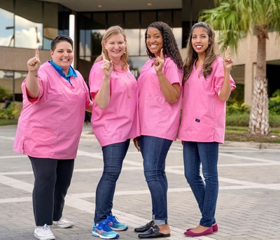 From left to right, Learner Services Advisor Amber Acosta, Senior Vice President of Human Resources Beth Garland, Strategic Partnerships Regional Manager Ilyasha Hood and Associate Manager of New Student Advisors Yliana Rodriguez. Source: Ultimate Medical Academy.