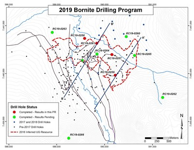 Figure 1- Map Showing Location of 2019 Drilling Program at Bornite (CNW Group/Trilogy Metals Inc.)