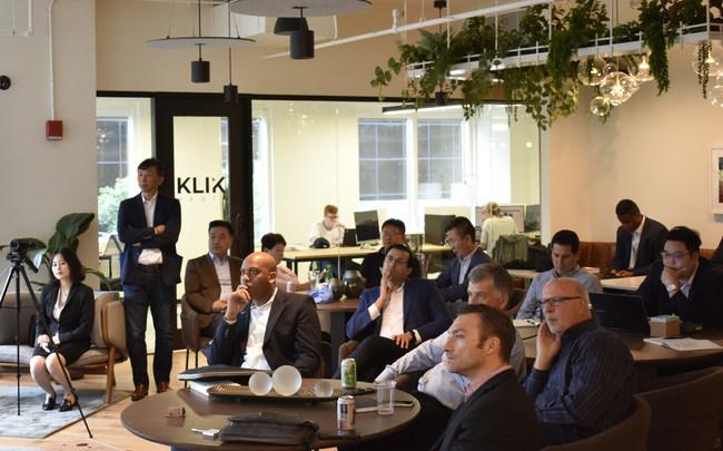 Investors listen as startups present their pitch