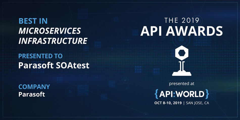 Parasoft Wins Best Solution for Microservices with API