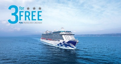 Princess Cruises 3 for Free Sale Returns Offering Cruise