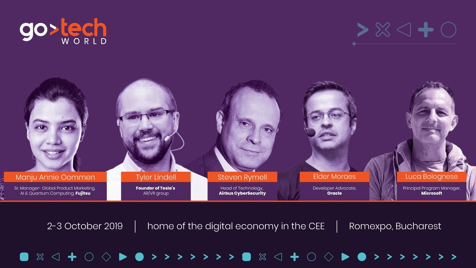 Experts from Tesla, Oracle, Fujitsu, Airbus and Microsoft will speak on the GoTech World stages
