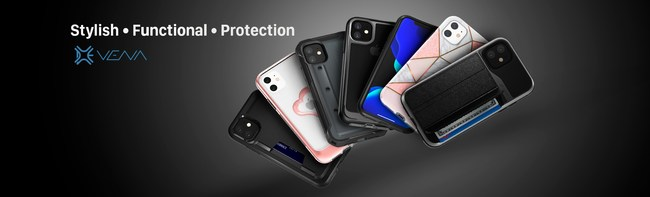 New iPhone 11 Vena cases are slim, functional and protective.