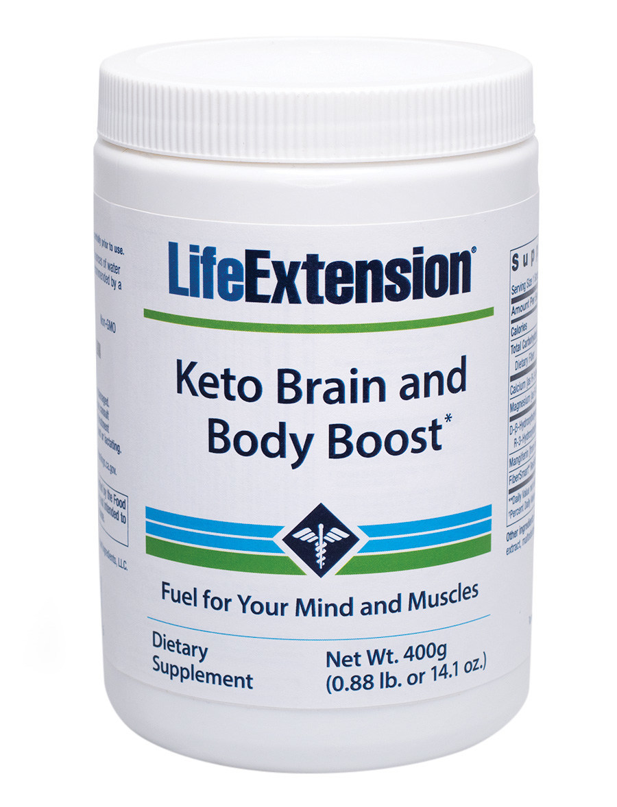 With the new Keto Brain and Body Boost formula from Life Extension, health conscious people can get fuel for mind and muscles without the drawbacks associated with high fat intake.