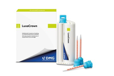 New LuxaCrown®️ semi-permanent crown and bridge material by DMG America saves time and money for both the patient and the dental practice.