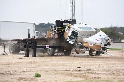 Patriot Beam Barrier Crash Test