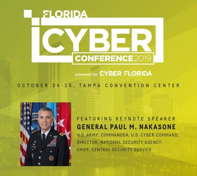 Florida Cyber Conference 2019 will feature a keynote address by General Paul M. Nakasone, U.S. Army; Commander, U.S. Cyber Command; Director, National Security Agency; Chief, Central Security Service, as well as expert speakers from Trend Micro, ReliaQuest, KnowBe4, AWS, Palo Alto Networks, Raymond James, PwC, and more.