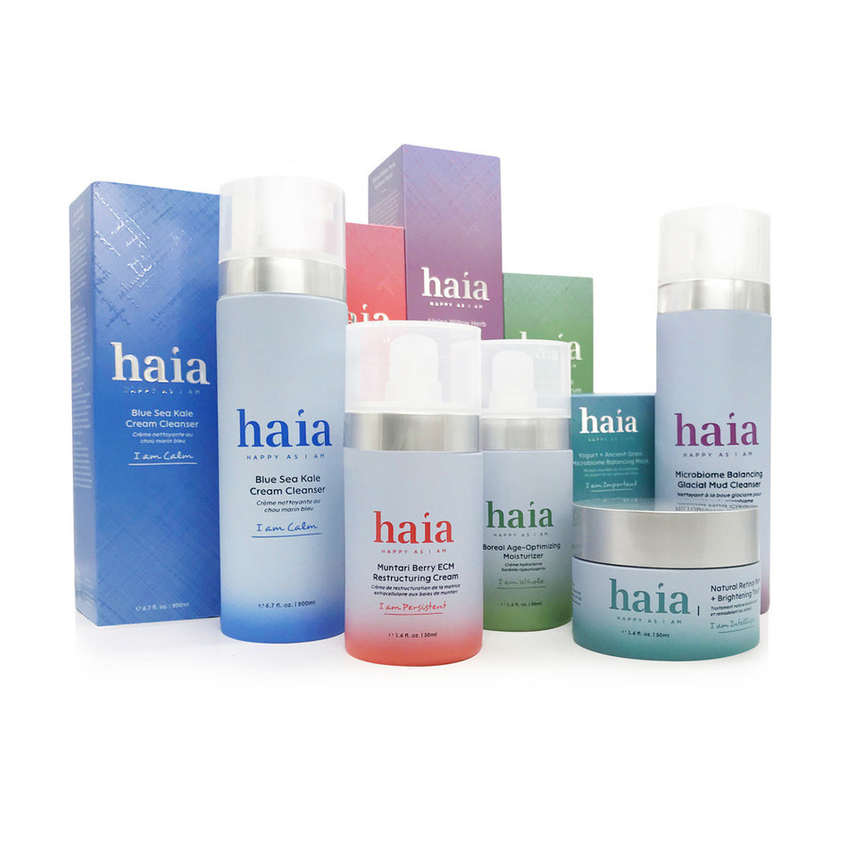 haia brings together the best of cutting-edge science and nature's wisdom to create an inclusive, clean skincare line that takes a stand for self-esteem. With positive affirmations on each product and the industry's first ever animated, instructive skincare app, the goal is to help something as basic as your daily skincare routine inspire confidence and a sense of belonging.