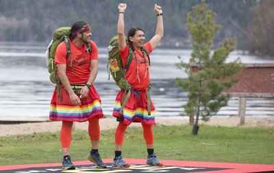 Two-spirit married couple Anthony and James, from amiskwaciy-wâskahikan (Edmonton, Alta.), Treaty Number Six Territory, win Season  of CTV's THE AMAZING RACE CANADA. (CNW Group/CTV)