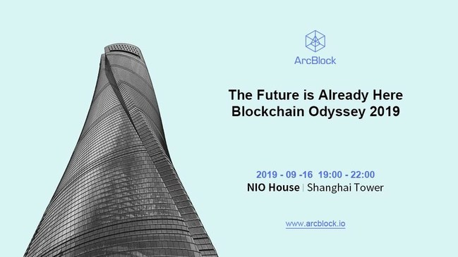 ArcBlock Blockchain Odyssey showcasing dApps, customer products from the auto, insurance, fintech and gaming industries and more.