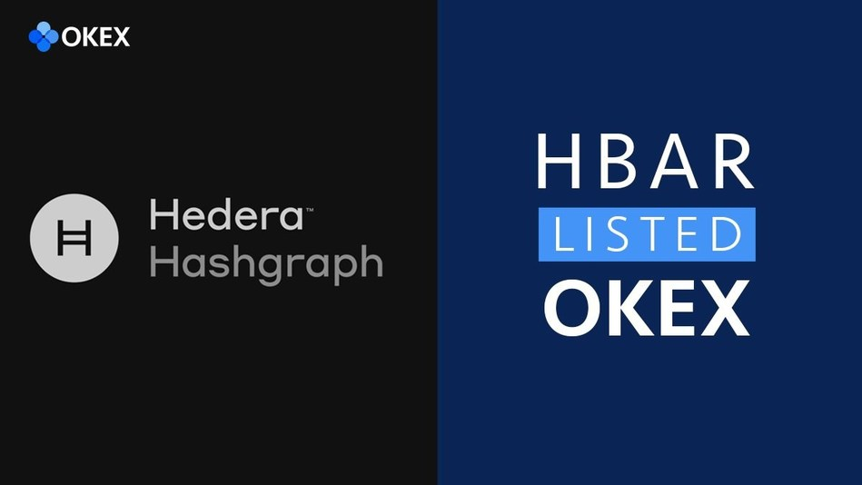 OKEx Will List HBAR – the Coin from Hedera Hashgraph, a New Generation of Distributed Ledger Technology (PRNewsfoto/OKEx)