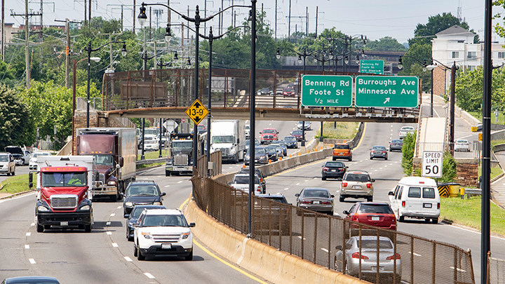 """Highway 295 in Washington, D.C., was named a """"Risky Road"""" on the 15th annual Allstate America's Best Drivers Report. To spur positive change in communities, Allstate is lending a hand by offering $150,000 in grants that can be used for safety improvement projects on these 15 """"Risky Roads."""" (PRNewsfoto/Allstate)"""