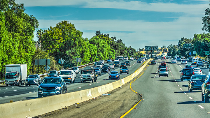 """The 405 Freeway in Los Angeles was named a """"Risky Road"""" on the 15th annual Allstate America's Best Drivers Report. To spur positive change in communities, Allstate is lending a hand by offering $150,000 in grants that can be used for safety improvement projects on these 15 """"Risky Roads."""" (PRNewsfoto/Allstate)"""