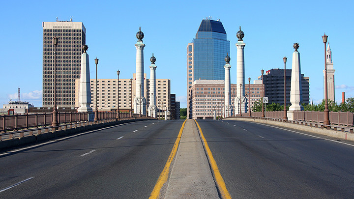 """Interstate 91 in Springfield was named a """"Risky Road"""" on the 15th annual Allstate America's Best Drivers Report. To spur positive change in communities, Allstate is lending a hand by offering $150,000 in grants that can be used for safety improvement projects on these 15 """"Risky Roads."""" (PRNewsfoto/Allstate)"""
