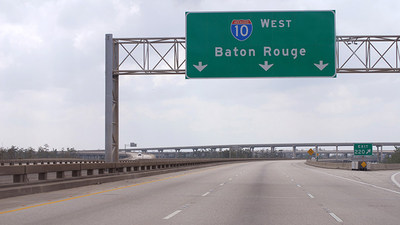 "Interstate 10 in Baton Rouge was named a ""Risky Road"" on the 15th annual Allstate America's Best Drivers Report. To spur positive change in communities, Allstate is lending a hand by offering $150,000 in grants that can be used for safety improvement projects on these 15 ""Risky Roads."" (PRNewsfoto/Allstate)"