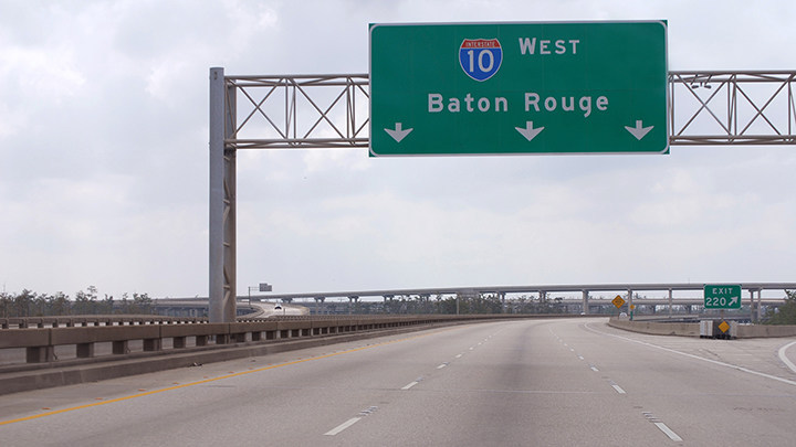 """Interstate 10 in Baton Rouge was named a """"Risky Road"""" on the 15th annual Allstate America's Best Drivers Report. To spur positive change in communities, Allstate is lending a hand by offering $150,000 in grants that can be used for safety improvement projects on these 15 """"Risky Roads."""" (PRNewsfoto/Allstate)"""