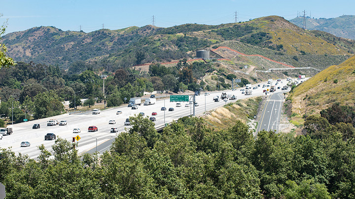 """The 210 Freeway in Pasadena was named a """"Risky Road"""" on the 15th annual Allstate America's Best Drivers Report. To spur positive change in communities, Allstate is lending a hand by offering $150,000 in grants that can be used for safety improvement projects on these 15 """"Risky Roads."""" (PRNewsfoto/Allstate)"""