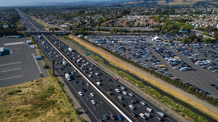 """Highway 880 in Hayward was named a """"Risky Road"""" on the 15th annual Allstate America's Best Drivers Report. To spur positive change in communities, Allstate is lending a hand by offering $150,000 in grants that can be used for safety improvement projects on these 15 """"Risky Roads."""" (PRNewsfoto/Allstate)"""