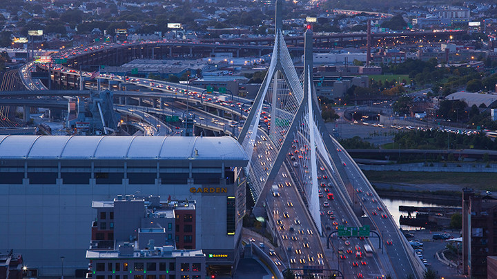 "Route 93 in Boston was named a ""Risky Road"" on the 15th annual Allstate America's Best Drivers Report. To spur positive change in communities, Allstate is lending a hand by offering $150,000 in grants that can be used for safety improvement projects on these 15 ""Risky Roads."" (PRNewsfoto/Allstate)"