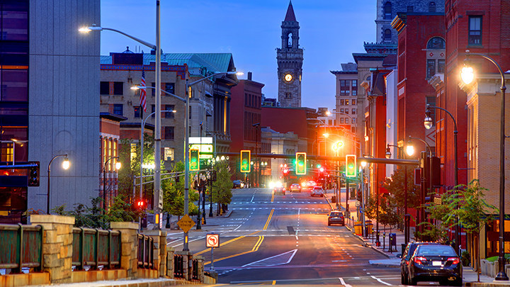 "Main Street in Worcester was named a ""Risky Road"" on the 15th annual Allstate America's Best Drivers Report. To spur positive change in communities, Allstate is lending a hand by offering $150,000 in grants that can be used for safety improvement projects on these 15 ""Risky Roads."" (PRNewsfoto/Allstate)"
