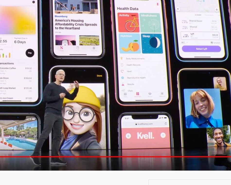 Canadian company Kvell Home Featured during Apple's Keynote iPhone 11 Unveiling (CNW Group/Kvell Home)