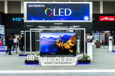 SKYWORTH expone productos para televisión