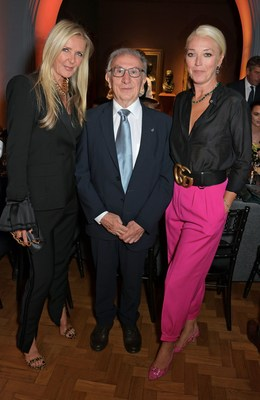 Amanda Wakeley, Winemaker Jean-Jacques Cattier and Tamara Beckwith at the Champagne Armand de Brignac Assemblage Three Launch.