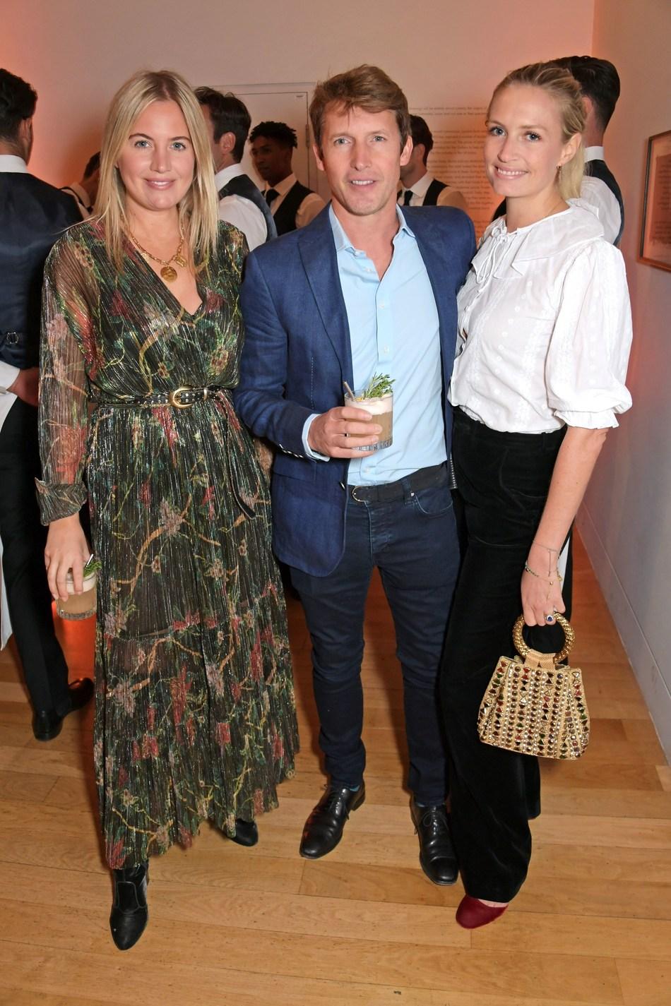 Marissa Montgomery, James Blunt and Sofia Wellesley at the Champagne Armand de Brignac Blanc de Noirs Assemblage Three Launch