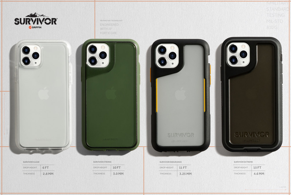 Griffin Launches Lineup of Survivor Cases to Protect iPhone