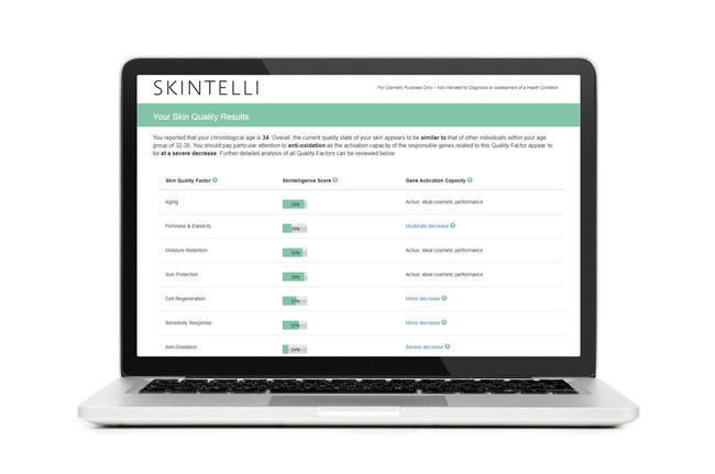 SKINTELLI's test report delivers a snapshot of your current skin quality profile.