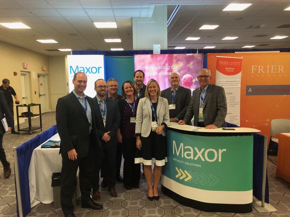 The Maxor Team at NASP 2019  (from left) Mike Einodshofer, Jessie Heaton, Bill Aikins, Nicole Shoquist, Ryan Atkinson, Suzanne Hansen, Mike McDonald, Mike Ellis