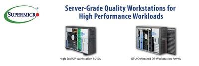 美超微推出新的解决方案,扩大高性能超级工作站系统组合